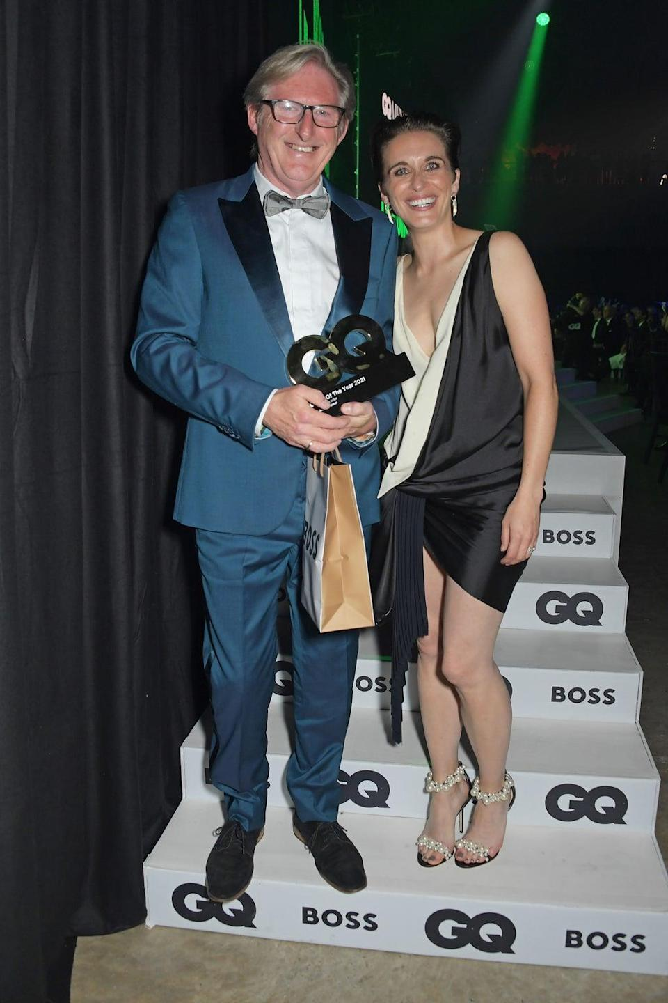 Adrian Dunbar, winner of the Television Actor award, and Vicky McClure (Dave Benett)