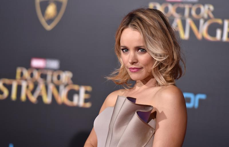 """Rachel McAdams arrives at the Los Angeles premiere of """"Doctor Strange"""" at the TCL Chinese Theatre on Thursday, Oct. 20, 2016. (Photo by Jordan Strauss/Invision/AP)"""
