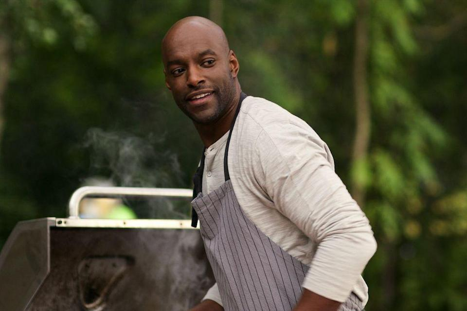 """<p>The kind-eyed chef is played by Colin Lawrence, who has appeared in multiple binge-worthy supernatural and sci-fi shows: <em><a href=""""https://www.amazon.com/Riverdale-Trailer/dp/B01MU3G91Q/?tag=syn-yahoo-20&ascsubtag=%5Bartid%7C10072.g.34716665%5Bsrc%7Cyahoo-us"""" rel=""""nofollow noopener"""" target=""""_blank"""" data-ylk=""""slk:Riverdale"""" class=""""link rapid-noclick-resp"""">Riverdale</a></em>, <em><a href=""""https://www.amazon.com/Water/dp/B000UU2YKE/?tag=syn-yahoo-20&ascsubtag=%5Bartid%7C10072.g.34716665%5Bsrc%7Cyahoo-us"""" rel=""""nofollow noopener"""" target=""""_blank"""" data-ylk=""""slk:Battlestar Galactica"""" class=""""link rapid-noclick-resp"""">Battlestar Galactica</a></em>, and <em><a href=""""https://www.amazon.com/Pilot/dp/B00U5UPXCA/?tag=syn-yahoo-20&ascsubtag=%5Bartid%7C10072.g.34716665%5Bsrc%7Cyahoo-us"""" rel=""""nofollow noopener"""" target=""""_blank"""" data-ylk=""""slk:iZombie"""" class=""""link rapid-noclick-resp"""">iZombie</a></em>. </p><p><strong>Find him on Instagram: </strong>@<strong><a href=""""https://www.instagram.com/colinlawrence97/?hl=en"""" rel=""""nofollow noopener"""" target=""""_blank"""" data-ylk=""""slk:c"""" class=""""link rapid-noclick-resp"""">c</a></strong><strong><a href=""""https://www.instagram.com/colinlawrence97/?hl=en"""" rel=""""nofollow noopener"""" target=""""_blank"""" data-ylk=""""slk:olinlawrence97"""" class=""""link rapid-noclick-resp"""">olinlawrence97</a></strong></p>"""