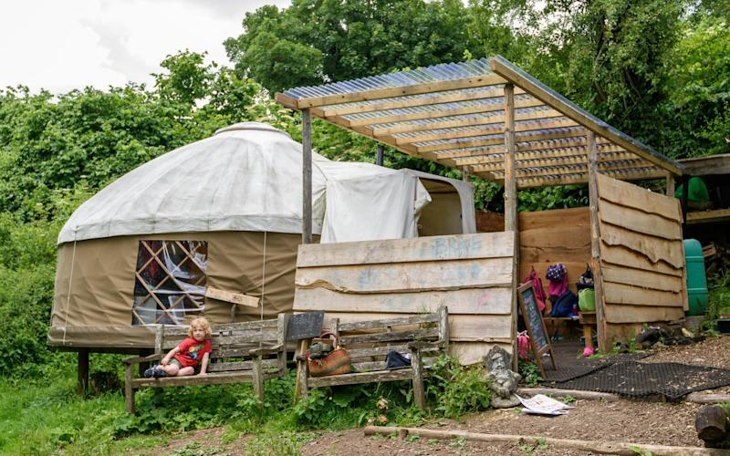 The yurt used by Green House Education Project to teach its students unconventional subjects - Bath Chronicle / SWNS.com