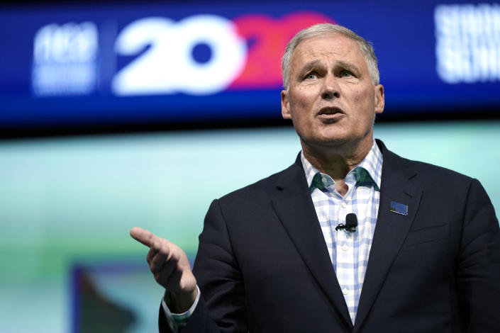 Washington Gov. Jay Inslee speaks during an education forum in Houston earlier this month. (AP Photo/David J. Phillip)