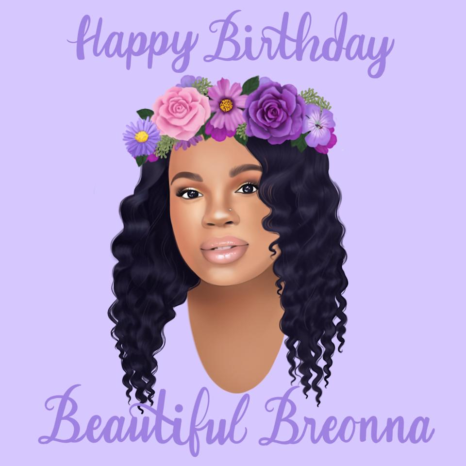 Gracie Pekrul shared this illustration of Breonna Taylor on June 5, the day that would've been Taylor's 27th birthday.