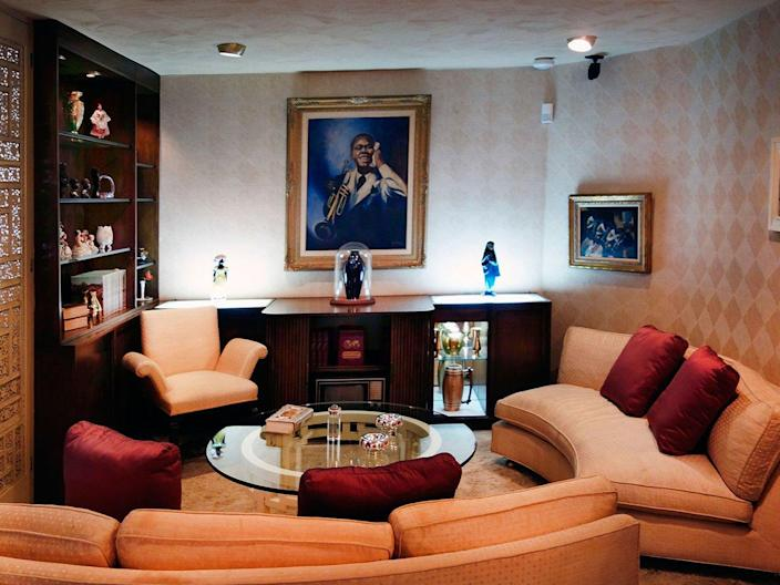 Living area in the Louis Armstrong House Museum, Queens, New York.