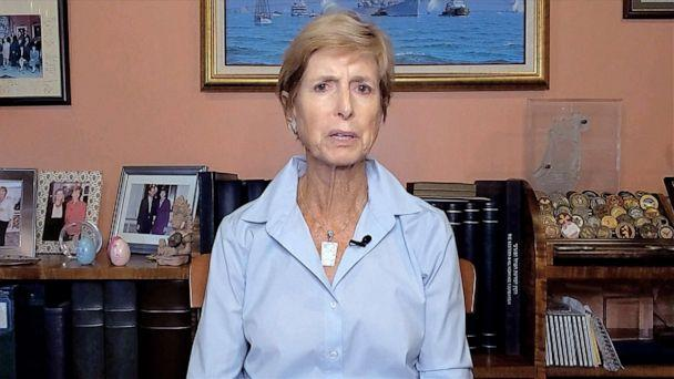 PHOTO: Former New Jersey Gov. Christine Whitman speaks during the first night of the Democratic National Convention via video, Aug. 17, 2020. (Democratic National Convention)
