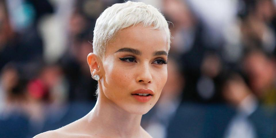 <p>Kravitz made us all want to go out and get a pixie crop with her super short bleached blonde cut.</p>