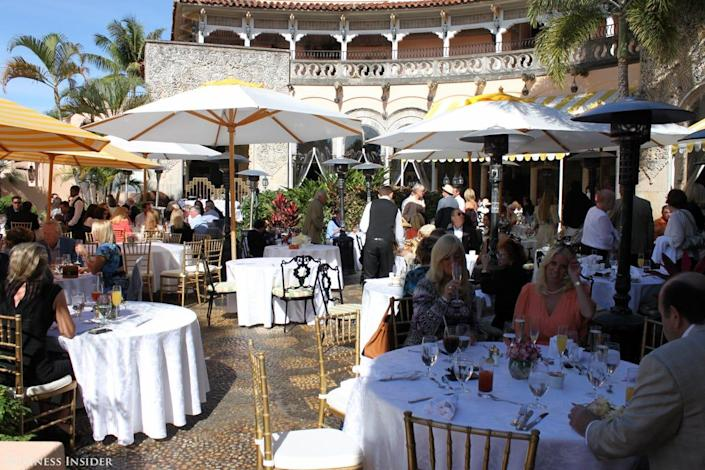 brunch wealth mar a lago club palm beach trump