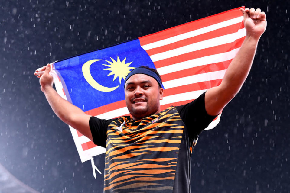 Malaysia's Paralympic shot putter Muhammad Ziyad Zolkefli competed in the F20 shot put event (learning difficulties category) at the Tokyo 2020 Paralympic Games at the Olympic Stadium August 31, 2021. — Bernama pic