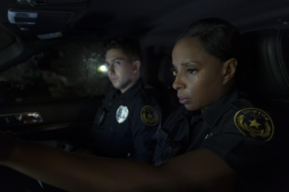 """Mary J. Blige and Nat Wolff play cops dealing with a supernatural force in the thriller """"Body Cam."""""""