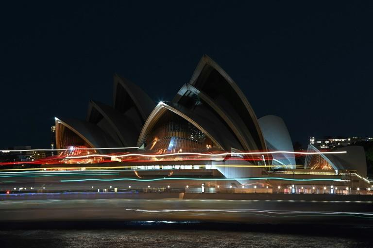 The Sydney Opera House switched its lights off to mark the event