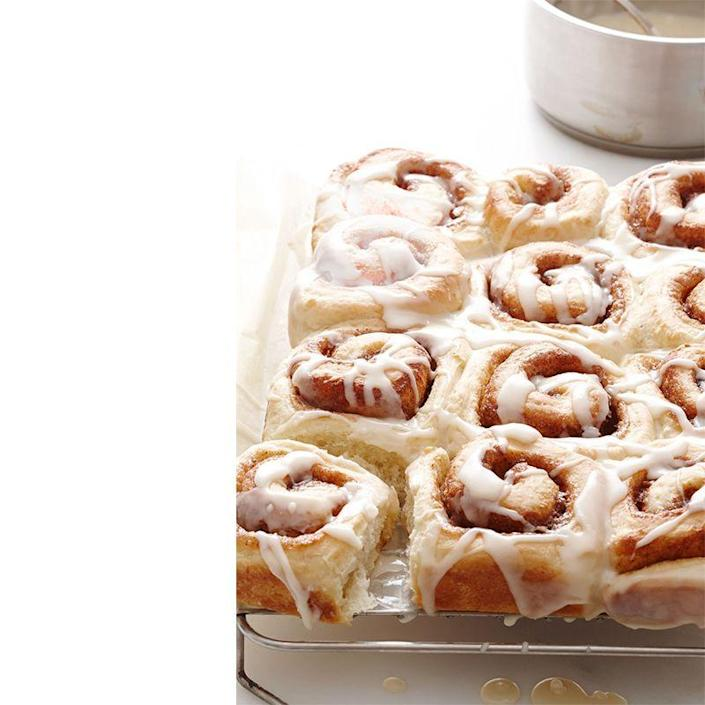 "<p>Who says cinnamon rolls have to strictly be a breakfast treat? These rolls are a great brunch dessert, but are just as delicious during Mother's Day dinner.</p><p><em><a href=""https://www.womansday.com/food-recipes/food-drinks/recipes/a12562/cinnamon-rolls-recipe-wdy0414/"" rel=""nofollow noopener"" target=""_blank"" data-ylk=""slk:Get the recipe for Cinnamon Rolls."" class=""link rapid-noclick-resp"">Get the recipe for Cinnamon Rolls.</a></em></p>"