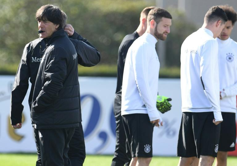 """Germany's head coach Joachim Loew said his team's goal going into the match against Azerbaijan was """"to secure a ticket for the World Cup as soon as possible"""""""