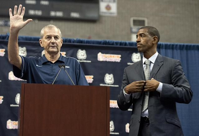 Where does Connecticut turn after firing Kevin Ollie (R)? One person it doesn't appear to be considering is former coach Jim Calhoun. (AP)