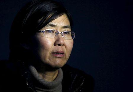 Human rights lawyer Wang Yu talks during an interview with Reuters in Beijing in this March 1, 2014 photo.   REUTERS/Kim Kyung-Hoon