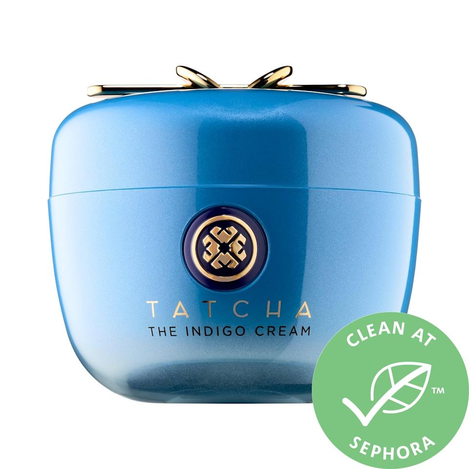 """<p><a href=""""https://www.popsugar.com/buy/Tatcha-Indigo-Cream-Soothing-Skin-Protectant-361810?p_name=Tatcha%20The%20Indigo%20Cream%20Soothing%20Skin%20Protectant&retailer=sephora.com&pid=361810&price=85&evar1=bella%3Aus&evar9=47461551&evar98=https%3A%2F%2Fwww.popsugar.com%2Fbeauty%2Fphoto-gallery%2F47461551%2Fimage%2F47461578%2FTatcha-Indigo-Cream-Soothing-Skin-Protectant&list1=sephora%2Cdry%20skin%2Cacne%2Csensitive%20skin%2Cbeauty%20shopping%2Cskin%20care&prop13=mobile&pdata=1"""" class=""""link rapid-noclick-resp"""" rel=""""nofollow noopener"""" target=""""_blank"""" data-ylk=""""slk:Tatcha The Indigo Cream Soothing Skin Protectant"""">Tatcha The Indigo Cream Soothing Skin Protectant</a> ($85) is not only a cushiony, noncomedogenic moisturizer that softens and firms skin. There's also natural indigo extract and calming colloidal oatmeal inside to create a protective layer against anything that may cause irritation moving forward.</p>"""