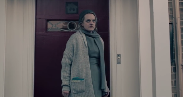 Offred has to decide whether saving her daughter means leaving her behind in <em>The Handmaid's Tale</em> Season 2. (Photo: Hulu)