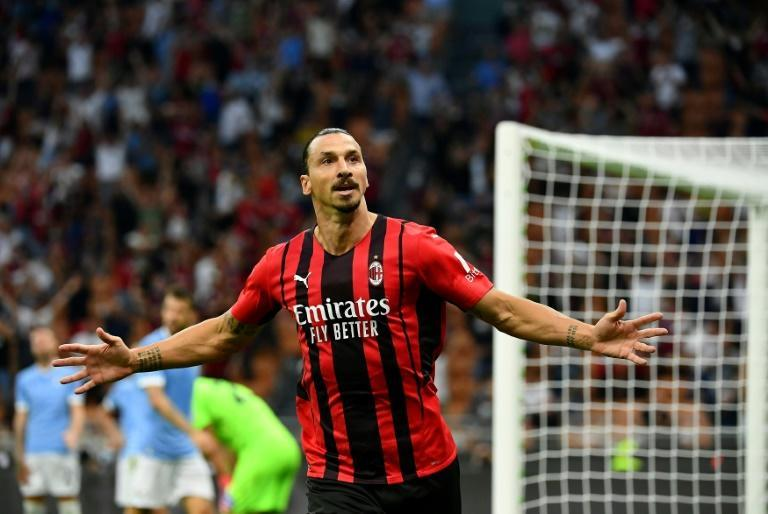 Zlatan Ibrahimovic is back and in scoring form in time for AC Milan's trip to Anfield (AFP/Isabella BONOTTO)