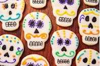 """<p>October 31st also marks the start of Day of the Dead—celebrate with these colorful skull cookies.</p><p>Get the recipe from <a href=""""https://www.delish.com/holiday-recipes/halloween/a29005020/day-of-the-dead-cookies-recipe/"""" rel=""""nofollow noopener"""" target=""""_blank"""" data-ylk=""""slk:Delish"""" class=""""link rapid-noclick-resp"""">Delish</a>.</p>"""