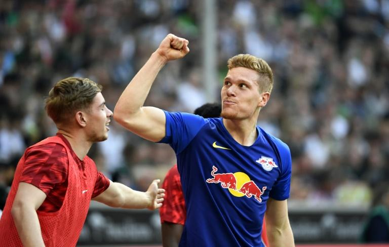 Marcel Halstenberg scored twice to fire RB Leipzig to a 2-1 win over Borussia Moenchengladbach