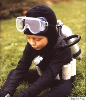 "<div class=""caption-credit""> Photo by: Squire Fox</div><div class=""caption-title"">Scuba Diver Costume</div><p> Your child will make a splash in this no-sew costume. <br> </p> <p> <a href=""http://www.parenting.com/article/Toddler/Activities/Scuba-Diver-21354920?src=syn&dom=shine"" rel=""nofollow noopener"" target=""_blank"" data-ylk=""slk:How to Make the Scuba Diver Costume"" class=""link rapid-noclick-resp"">How to Make the Scuba Diver Costume</a> <br> <a href=""http://www.parenting.com/activity-parties-article/Activities-Parties/Celebrations/Halloween-Central-21355156?src=syn&dom=shine"" rel=""nofollow noopener"" target=""_blank"" data-ylk=""slk:More Costumes at Halloween Central"" class=""link rapid-noclick-resp"">More Costumes at Halloween Central</a> </p>"