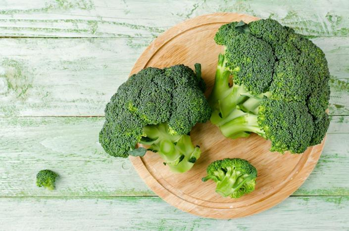 "<p>Cruciferous veggies like broccoli are loaded with sulfur-containing chemicals called glucosinolates. During chewing and digestion, they get broken down into compounds like indole-3-carbinol and sulforaphane, which have been shown to fight cell damage and inflammation and even block blood vessels from forming in tumors, according to the <a href=""https://www.cancer.gov/about-cancer/causes-prevention/risk/diet/cruciferous-vegetables-fact-sheet"" rel=""nofollow noopener"" target=""_blank"" data-ylk=""slk:National Cancer Institute"" class=""link rapid-noclick-resp"">National Cancer Institute</a> (NCI).</p><p><strong>Try it: </strong><a href=""https://www.prevention.com/food-nutrition/recipes/a23473377/chili-orange-shrimp-recipe/"" rel=""nofollow noopener"" target=""_blank"" data-ylk=""slk:Chili-Orange Shrimp with Broccoli Couscous"" class=""link rapid-noclick-resp"">Chili-Orange Shrimp with Broccoli Couscous</a></p>"