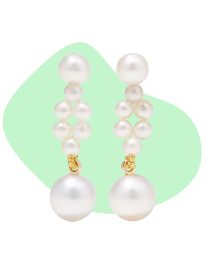 """These Sophie Billie Brahe pearl earrings are for the mom who likes to make a subtle statement. Designed to represent braided pearls, these are earrings she can pair with everything. $975, Net-A-Porter. <a href=""""https://www.net-a-porter.com/en-us/shop/product/sophie-bille-brahe/jewelry-and-watches/earrings/petite-tresse-14-karat-gold-pearl-earrings/25458910981673866"""" rel=""""nofollow noopener"""" target=""""_blank"""" data-ylk=""""slk:Get it now!"""" class=""""link rapid-noclick-resp"""">Get it now!</a>"""