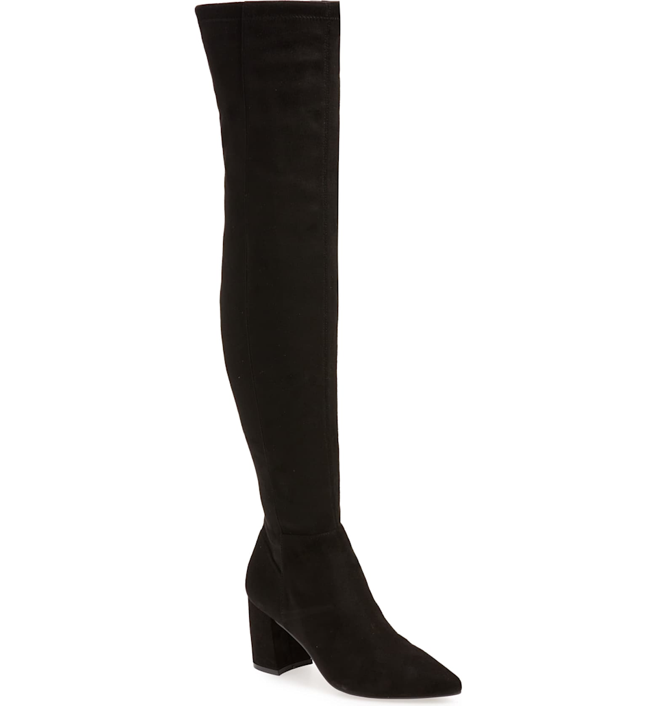 """<br><br><strong>Steve Madden</strong> Nifty Pointed Toe Over the Knee Boot, $, available at <a href=""""https://go.skimresources.com/?id=30283X879131&url=https%3A%2F%2Fwww.nordstrom.com%2Fs%2Fsteve-madden-nifty-pointed-toe-over-the-knee-boot-women%2F5598736"""" rel=""""nofollow noopener"""" target=""""_blank"""" data-ylk=""""slk:Nordstrom"""" class=""""link rapid-noclick-resp"""">Nordstrom</a>"""