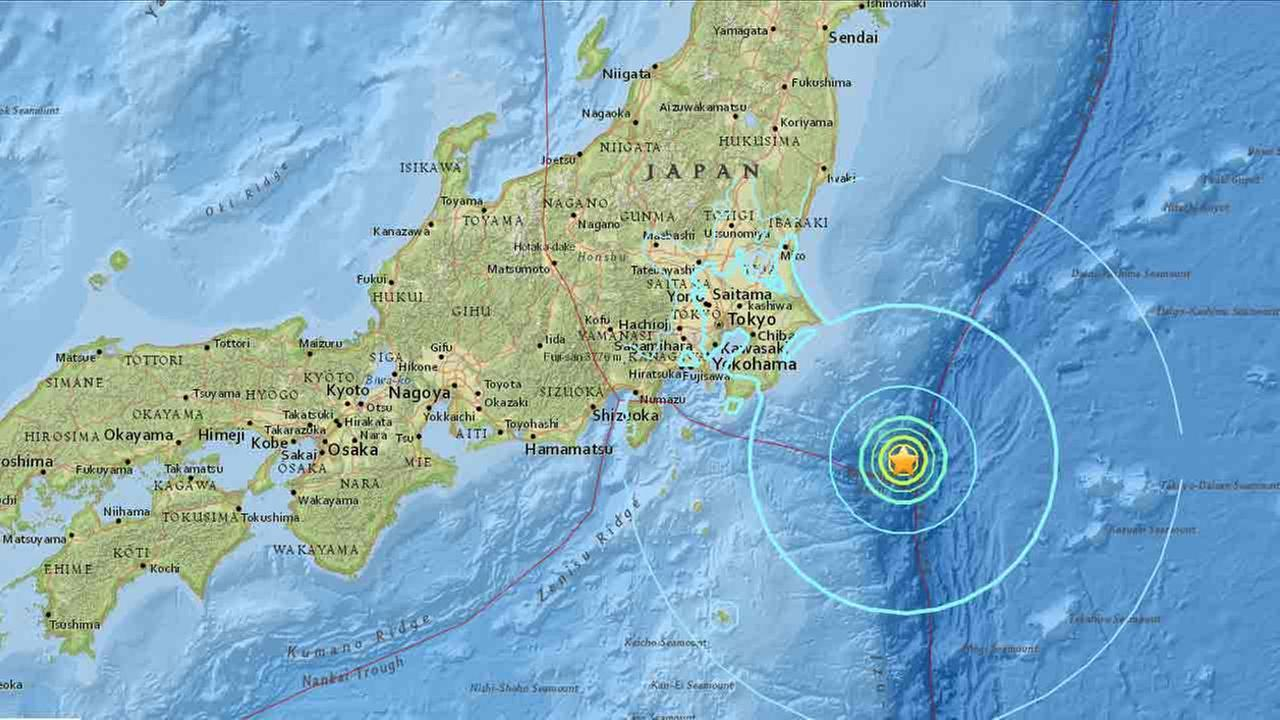 A 6.3-magnitude earthquake struck near Japan on Thursday, according to the United States Geological Survey.