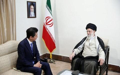 Iran's Supreme Leader Ayatollah Ali Khamenei meets with Japan's Prime Minister Shinzo Abe in Tehran - Credit: Reuters