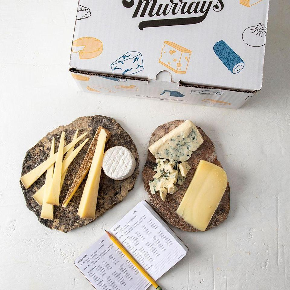 """<p><strong>Murray's Cheese</strong></p><p>murrayscheese.com</p><p><strong>$75.00</strong></p><p><a href=""""https://go.redirectingat.com?id=74968X1596630&url=https%3A%2F%2Fwww.murrayscheese.com%2Fcheesemongers-picks-of-the-month&sref=https%3A%2F%2Fwww.bestproducts.com%2Feats%2Ffood%2Fg2079%2Ftasty-food-gifts-for-foodies%2F"""" rel=""""nofollow noopener"""" target=""""_blank"""" data-ylk=""""slk:Shop Now"""" class=""""link rapid-noclick-resp"""">Shop Now</a></p><p>A monthly shipment of three or four spectacular cheesemonger-picked artisanal cheeses, delivered right to their doorstep? We ain't cheesin'! </p><p>Murray's Cheesemonger's Picks Cheese of the Month Club is one of the most delicious monthly food subscription boxes out there (and it makes a great gift, too) because it's curated to absolute cheesy perfection.</p><p>This pick gets my personal foodie stamp of approval. A good cheese board will make anyone swoon. </p><p><strong>More: </strong><a href=""""https://www.bestproducts.com/eats/drinks/g2465/smooth-bourbon-whiskey-brands/"""" rel=""""nofollow noopener"""" target=""""_blank"""" data-ylk=""""slk:Gifting a Whiskey Lover? Check Out These Bourbons"""" class=""""link rapid-noclick-resp"""">Gifting a Whiskey Lover? Check Out These Bourbons</a></p>"""