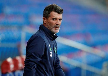 Soccer Football - 2018 World Cup Qualifications - Europe - Republic of Ireland Training - Cardiff City Stadium, Cardiff, Britain - October 8, 2017 Republic of Ireland assistant manager Roy Keane during training Action Images via Reuters/John Sibley