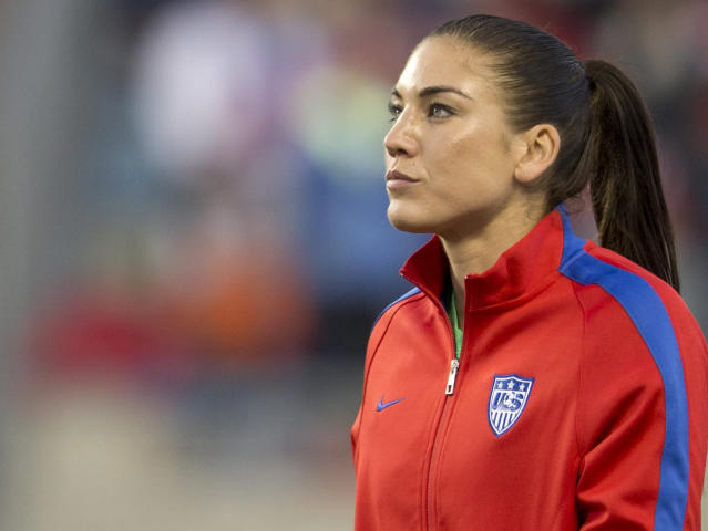 "<a class=""link rapid-noclick-resp"" href=""/olympics/rio-2016/a/1124386/"" data-ylk=""slk:Hope Solo"">Hope Solo</a>'s career has been marred by controversy, but that doesn't mean her candidacy should be disregarded. (Getty)"
