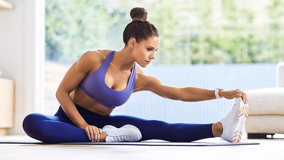 Try this stretch session daily to help relieve muscle tension. Photo: Supplied/Sweat