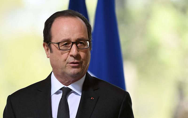 French President Francois Hollande - Credit: BORIS HORVAT/AFP