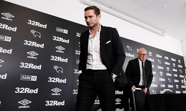Frank Lampard at the press conference at which he was announced as Derby County's new manager.