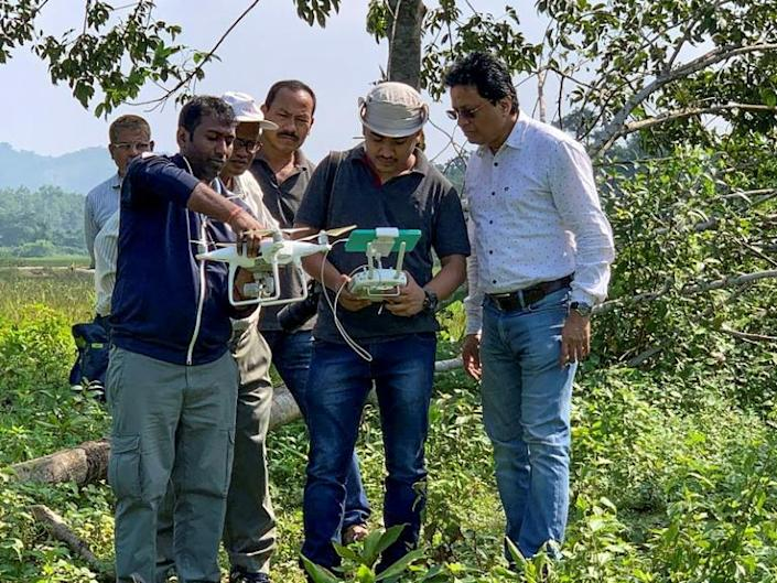 Assam Forest Minister Parimal Shuklabaidya said that an eight-person committee including wildlife experts would decide what to do (AFP Photo/Handout)