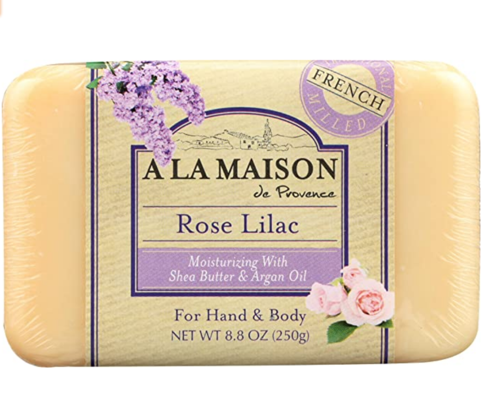 """<p><a class=""""link rapid-noclick-resp"""" href=""""https://www.amazon.com/Maison-Soap-Bars-Lilac-single/dp/B00YFPO8MM/?tag=syn-yahoo-20&ascsubtag=%5Bartid%7C1782.g.22559891%5Bsrc%7Cyahoo-us"""" rel=""""nofollow noopener"""" target=""""_blank"""" data-ylk=""""slk:BUY NOW"""">BUY NOW</a></p><p>Don't sleep on the Whole Foods beauty department—in particular their soaps are amazing. The scents of A La Maison de Provence will send you on a trip to France, while Goodsoap is an all-time Whole Foods fav. </p>"""