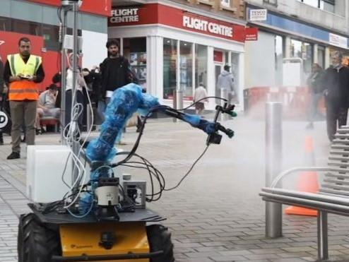 A robot cleaner in Leeds: Self Repairing Cities