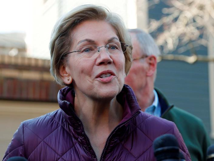 Elizabeth Warren, who Donald Trump criticised on Thursday with a retweet: REUTERS