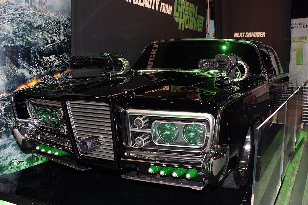 """1966 CHRYSLER IMPERIAL a/k/a THE BLACK BEAUTY  As Seen In: <a href=""""http://movies.yahoo.com/movie/1808411967/info"""">The Green Hornet</a>  Key Technical Specs: 7.2L V-8; retractable .50 caliber machine guns; rocket launcher; iPod ready.    Are you a dissolute scion of a media empire with money to burn? Are you looking for more out of life than partying with Kardashians and/or starring in a reality TV show? Then you need to become a masked crime fighter. We can't help you find a kung-fu-fighting sidekick, but this totally decked out set of wheels will help with your street cred.    Available Options: Comes with green headlights just in case you need to remind people what particular color hornet you are."""