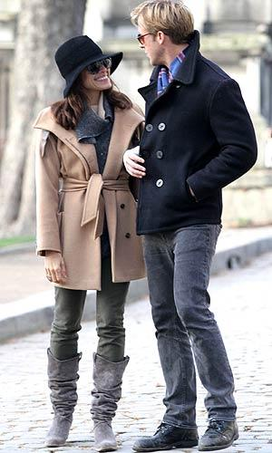 Ryan Gosling and Eva Mendes in Paris. Splash News