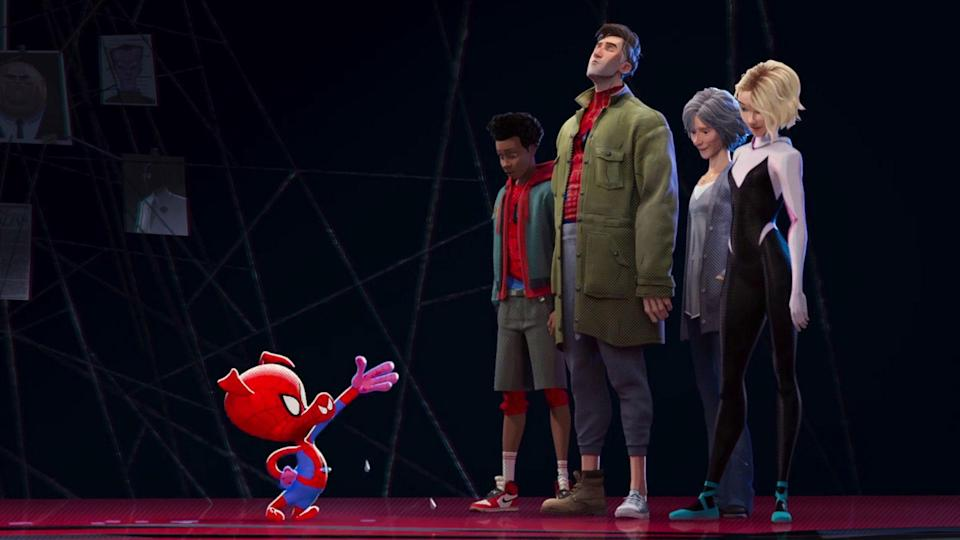 Spider-Ham introduces himself in <i>Spider-Man: Into The Spider-Verse</i> (Sony Pictures)