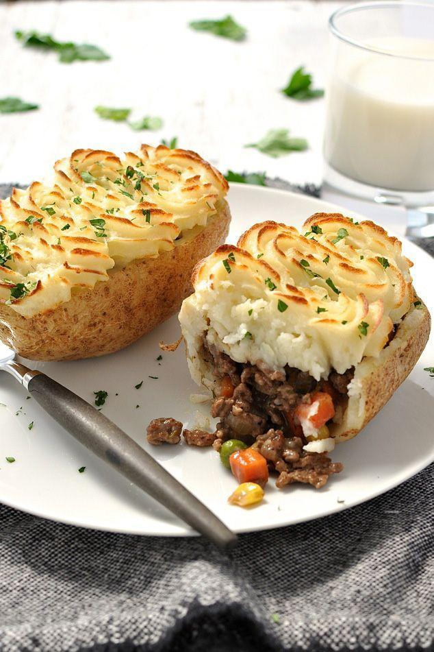 """<p>Of course, you could always put your shepherd's pie <em>inside</em> a potato too. Because, why not?</p><p><a href=""""http://www.recipetineats.com/shepherds-pie-potato-skins/"""" rel=""""nofollow noopener"""" target=""""_blank"""" data-ylk=""""slk:Get the recipe from Recipe Tin Eats »"""" class=""""link rapid-noclick-resp""""><em>Get the recipe from Recipe Tin Eats »</em></a><br></p>"""