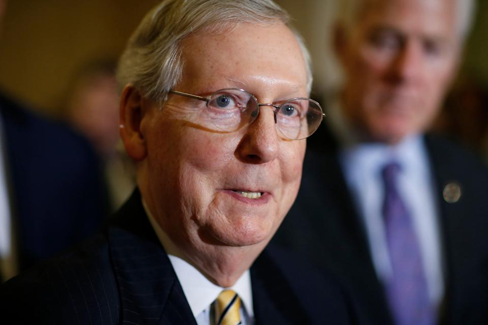 Mitch McConnell is feeling the heat from conservative groups to do more to confirm President Donald Trump's judicial nominees. He does not appear willing toaxe the so-called blue-slip ruleto appease them, however. (Photo: Joshua Roberts / Reuters)