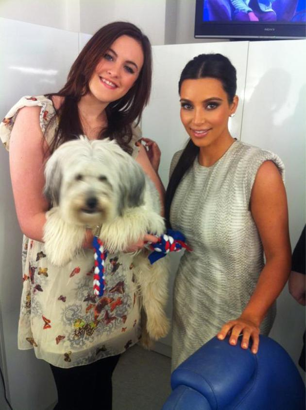 Celebrity photos: Ashleigh and Pudsey were the final winners of Britain's Got Talent over the weekend – and this week they've been doing some serious celeb spotting. Here, the pair pose with Kim Kardashian.