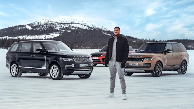 Anthony Joshua Range Rover on ice