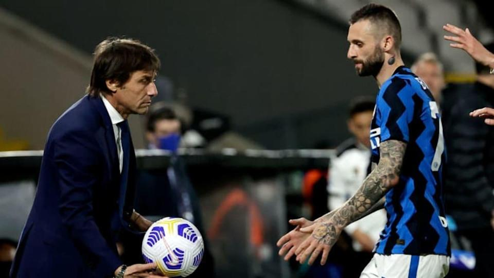 Antonio Conte e Marcelo Brozovic | Soccrates Images/Getty Images