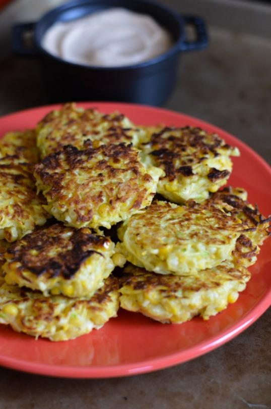 Crispy corn and squash fritters. (Photo: Chez Sasha)