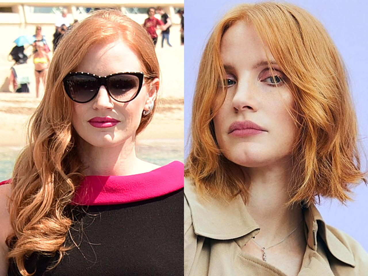 <p><strong>When:</strong> 19 June<br />Actress Jessica Chastain is known for her long red locks, so we were shocked when she decided to lob them off in the name of a summer cut – but WOW does it look good. Hairstylist Renato Campora gave her a cut just above the shoulders and styled it into edgy waves. We're half convinced to do the same. <br /><em>[Photo: Getty/Jette Stolte]</em> </p>