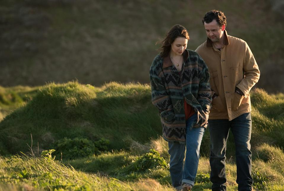 Tuppence Middleton and Daniel Mays go for a walk in Fisherman's Friends (Credit: Entertainment Film Distributors)