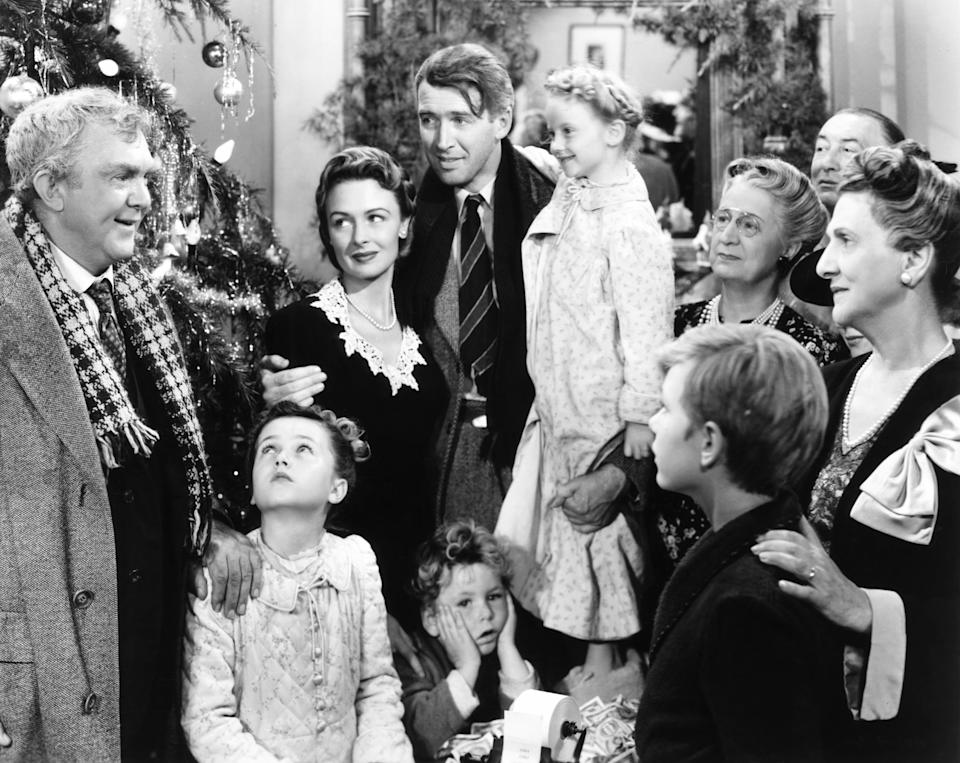 """Jimmy Stewart (middle) stars in the 1946 movie """"It's a Wonderful Life.""""  (Photo: Everett Collection)"""